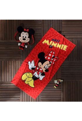 Taç Lisanslı Plaj Havlusu - Miss Minnie
