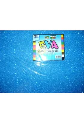 Nova Color Simli Yapışkanlı Eva 2Mm 50*70Cm Mavi