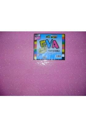Nova Color Simli Yapışkanlı Eva 2Mm 50*70Cm Pembe