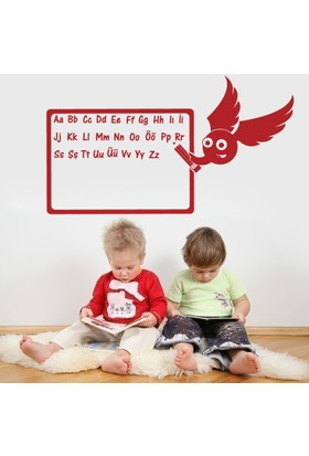 Modelce Alfabe Çocuk Odası Sticker - Priz Sticker Hediyeli