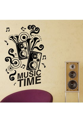 Modelce Music Time Duvar Sticker - Priz Sticker Hediyeli