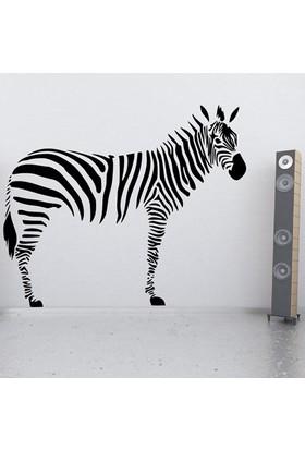Modelce Zebra Duvar Sticker - Priz Sticker Hediyeli