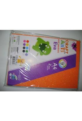Craft And Arts Simli Kendinden Yapışkanlı Eva 2Mm 10 Renk