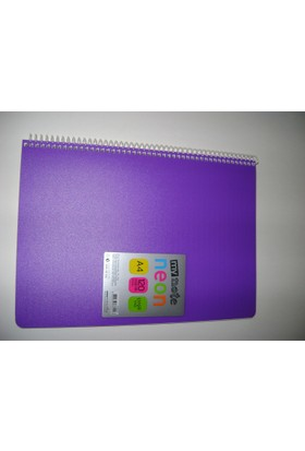 My Note Neon A4 120Yp Çizgili Pp Kapak