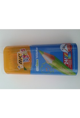 Bic Eco Lutions Evolution Özel Kutulu 24 Renk Kuru Kalem Boya Tam Boy