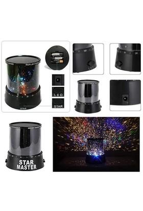 Pratik Şeyler Projeksiyon Gece Lambası Star Master