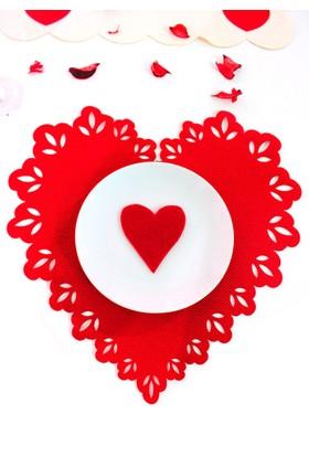 Modafabrik 2 li Kalp Şeklinde Ajurlu Amerikan Servis