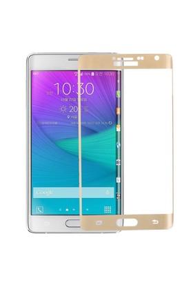 KNY Samsung Galaxy Note Edge Kavisli Ekran Koruyucu Gold