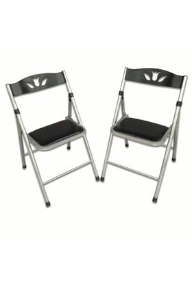 Vural Katlanır 2'Li Mutfak Balkon Piknik Sandalyesi