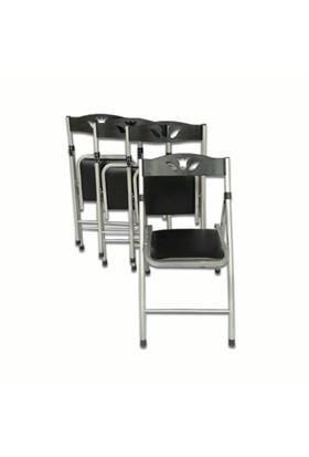 Vural Katlanır 4'Lü Mutfak Balkon Piknik Sandalyesi