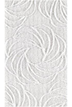 Confetti Confetti Alara (Simli) Banyo Halısı - Karbeyaz | İKİLİ SET