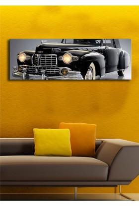 Mania Siyah Klasik Otomobil Kanvas Tablo 30x90 cm