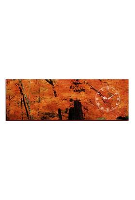 Mania Sonbahar Ağaç 30x90 cm Kanvas Saat