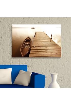 Arse Ahşap İskele Sandal Dekoratif Kanvas Tablo -50x70 cm