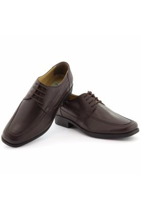 Özcoşkun Bağcıklı Kahverengi Klasik Ayakkabı