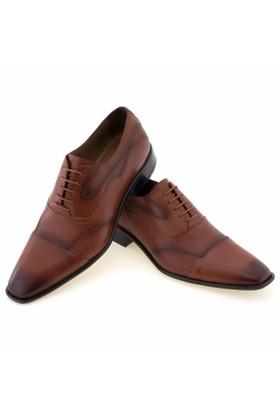 Güvenal Kahverengi Analin Bağcıklı Klasik Erkek Ayakkabı