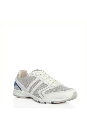 Viscon Beyaz Bej Fileli Erkek Spor Ayakkabı