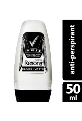 Rexona Deodorant Roll On Invısıble Black+Whıte 50 ml