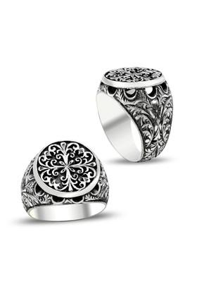 Anıyüzük Kalem İşlemeli Erzurum El İşi Gümüş Yüzük