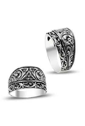 Anıyüzük Erzurum El İşi Kalem İşçilikli Gümüş Yüzük