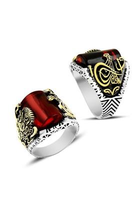 Anıyüzük Osmanlı Devleti Kırmızı Gümüş Yüzük