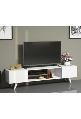 Minar Dore Tv Ünitesi Ceviz/Beyaz