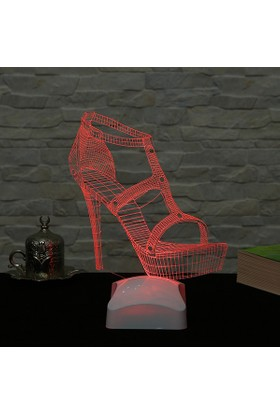 Dekorjinal 3 Boyutlu Ayakkabı Lamba V23D169