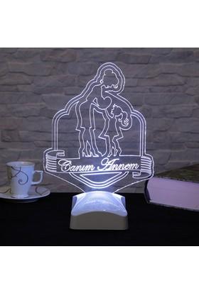 Dekorjinal Anneler Günü 3 Boyutlu Lamba ANNE3D006