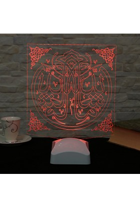 Dekorjinal 3 Boyutlu Maşallah Lamba V23D125