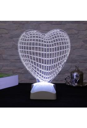 Dekorjinal 3 Boyutlu Kalp Lamba V23D089