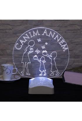 Dekorjinal Anneler Günü 3 Boyutlu Lamba ANNE3D001