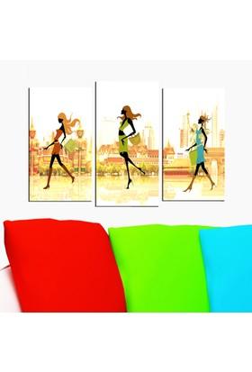 Decostil 3 Parça 81x50 Kanvas Tablo