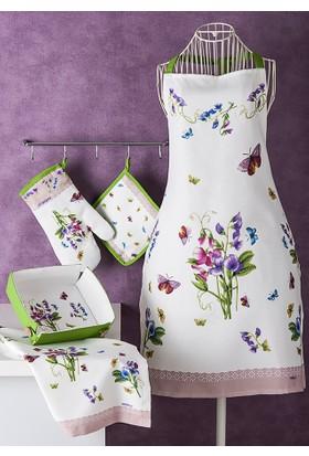 Noble Life Bahar Desen 5 Parça Tekstil Mutfak Seti