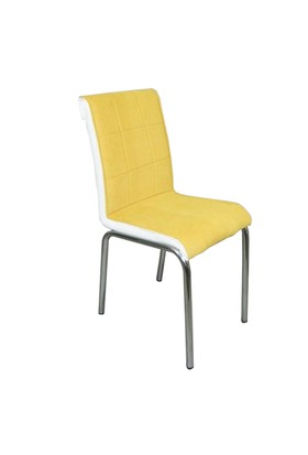 Mavi Mobilya Sandalye Sarı Kumaş (4 Adet)