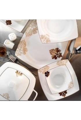 Kütahya Porselen Aliza Bone 12 Kişilik 83 Parça Yemek Takımı