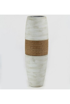 Desen Home İpli İnce Uzun Vazo Gri 38 cm Gs99334