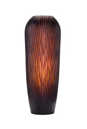 Evlina Home Kök Tasarımlı Kahverengi Kesme Cam Vazo