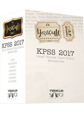 Yediiklim Yayınları Kpss 2017 Genel Kültür Genel Yetenek Konu Anlatımlı Modüler Set