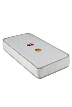 Mopa Teks Baby Ortopedik Bebek Yatağı + Bebek Yastığı Hediye - 70 x 130 - Beyaz