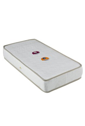 Mopa Teks Baby Ortopedik Bebek Yatağı + Bebek Yastığı Hediye - 70 x 140 - Beyaz