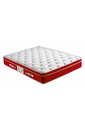 Mopa Teks Red Love Ultra Ortopedik Kalın Pedli Yatak - 100 x 200 - Kırmızı - Beyaz