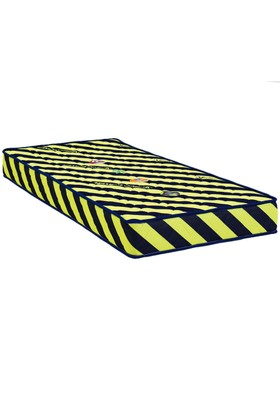 Mopa Teks Taraftar Ultra Full Ortopedik Visco Yatak - 90 x 200 - Sarı - Lacivert