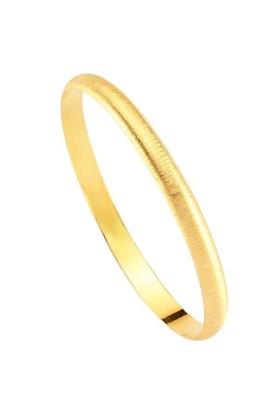 Bilezikhane Hediyelik Bilezik 4,50 Gram Simli Model 14 Ayar Altın