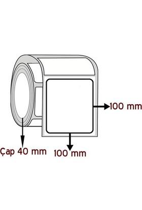 Opak Pp 100 Mm X 100 Mm Barkod Etiketi Çap 40 Mm ( 6 Rulo )