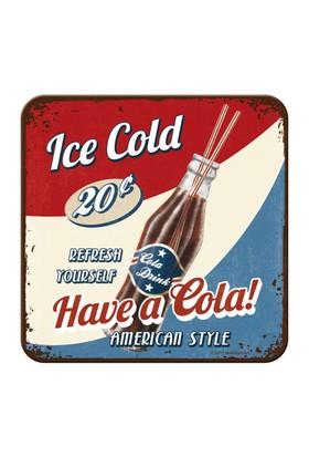 Nostalgic Art 2 Li Have A Cola Bardak Altlığı 9 x 9 cm