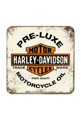 Nostalgic Art 2 Li Harley Davidson Pre-Lu x e Bardak Altlığı 9 x 9 cm