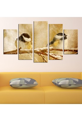 Casa De Arte 5 Parça Kanvas Tablo Kuşlar