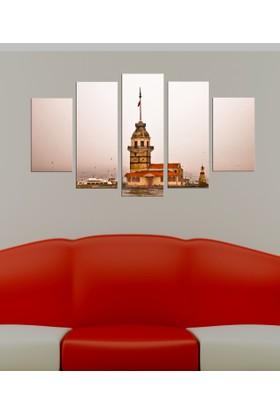 Casa De Arte 5 Parça Kanvas Tablo Kız Kulesi 645