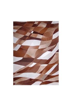 Tappeto E x clusive Deri Patchwork Kahve Bej Halı - 120 x 180 cm