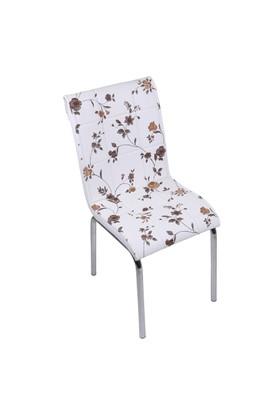 Kristal Masa P-04 Monopetli Kahve Çiçekli Sandalye